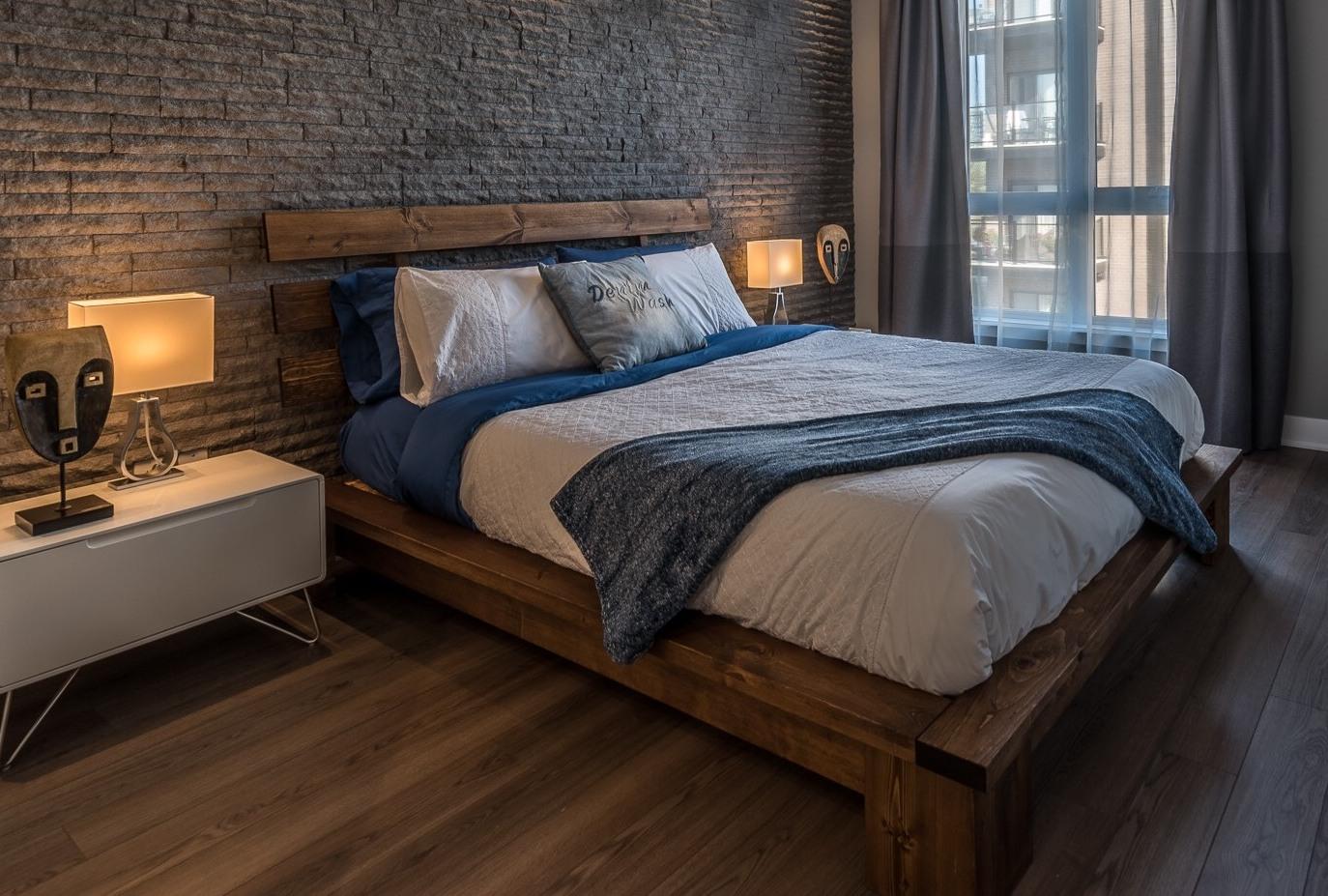 Fabriquer Tete De Lit Planche Bois lit en bois massif item l-2