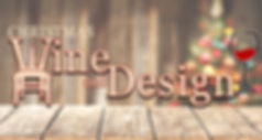 christmas wine and design logo 2-1 ratio