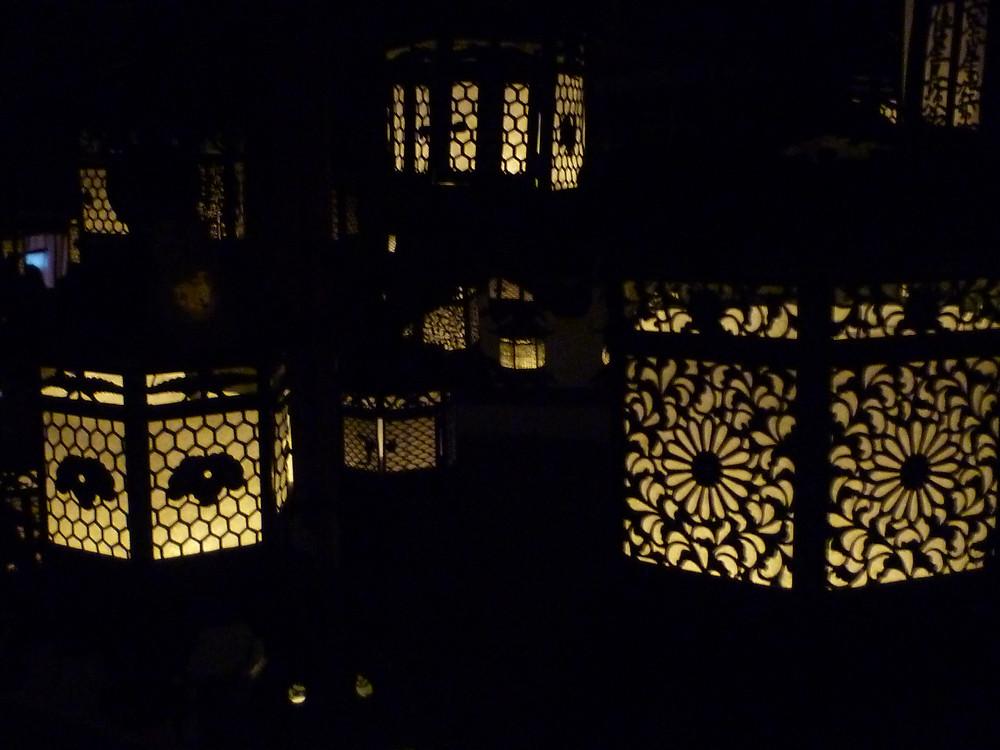 Metal lanterns at Kasuga taisha srhine