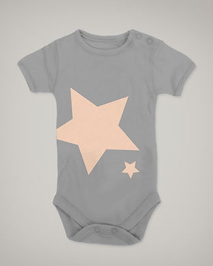 Grey Star Onesie