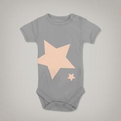 Grey Star Onesie