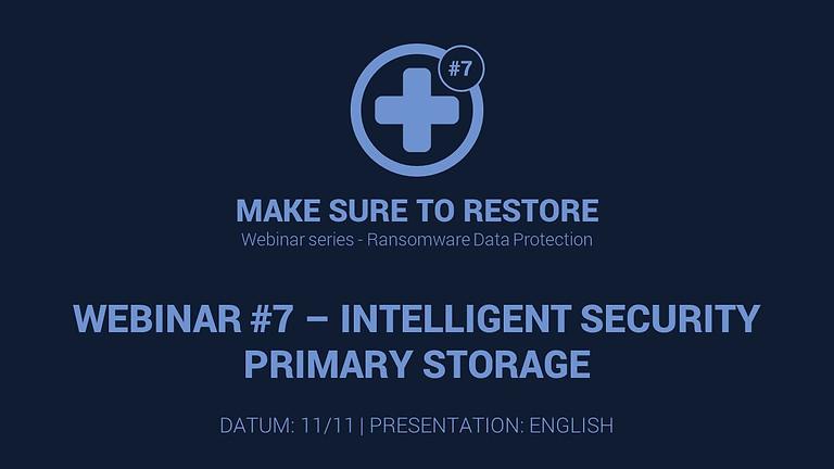 Make Sure to Restore #7 - INTELLIGENT SECURITY