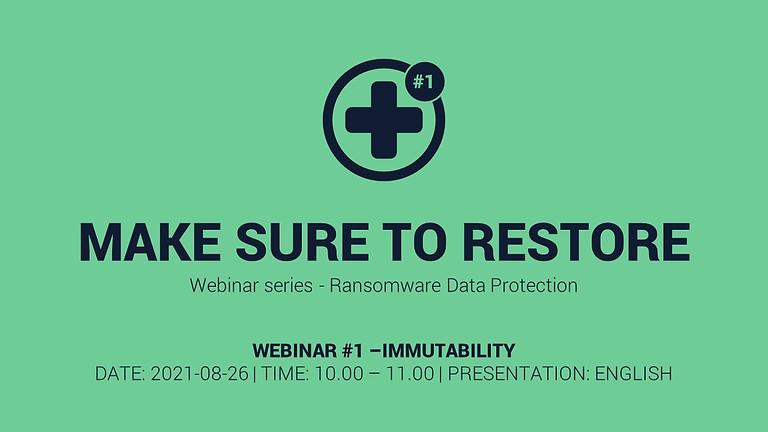 Make sure to restore #1 – Immutability