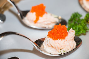 Smoked Salmon Mousse and Caviar