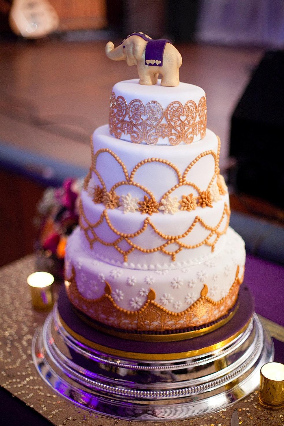 The Cakery Bristol Indian Themed Wedding Cake