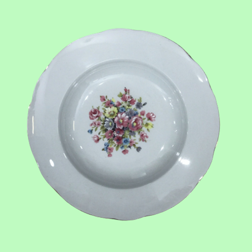 "Plato hondo 23cm ""Lena"" porcelana Limoges 1950's"