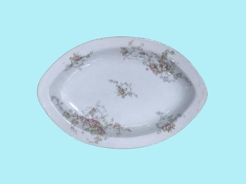 "Bandeja grande de porcelana ""Sissi Emperatriz"" 1900's"
