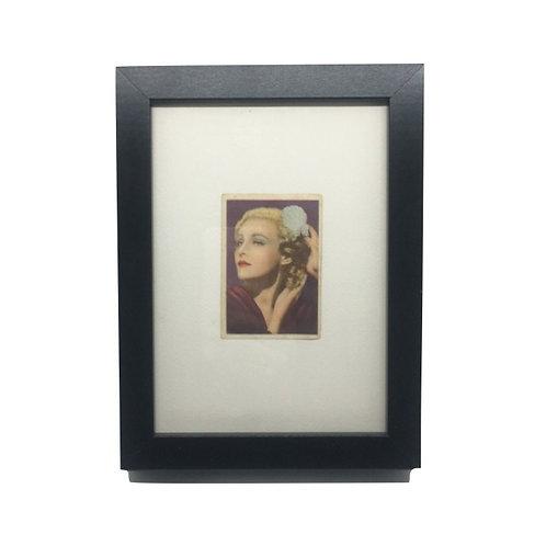 "Cuadro actriz ""Madeleine Carroll"" cromo original 1940's"