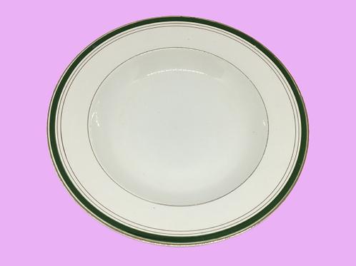 "Plato hondo de porcelana de Digoin & Sarreguemines ""Linda"" 1960's"