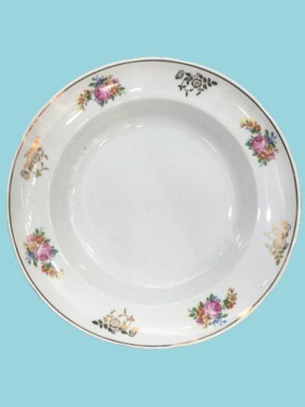 """Fuente / Plato hondo (o plato para servir)""""Maite"""" Porcelana """"Santa Clara"""" 1950's"""