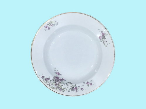 "Plato hondo de cerámica ""Opaque de Luneville"" ""Olivia"" 1910's"