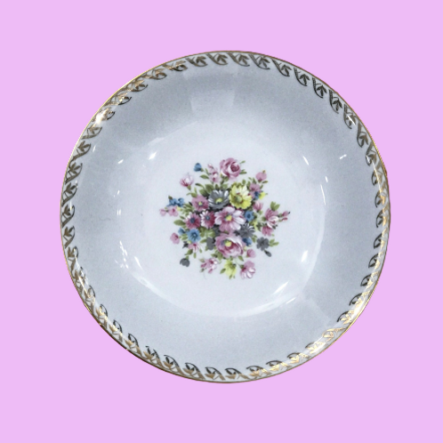 "Plato hondo 21,5cm ""Leticia"" porcelana KCM 1950's"