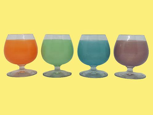 """Conjunto de 4 copas de Licor medianas """"Lupe"""" 1970's"""