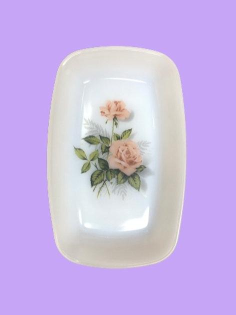 """Bandeja pequeña de Arcopal (18cm x 11cm)  """"Rosa"""""""