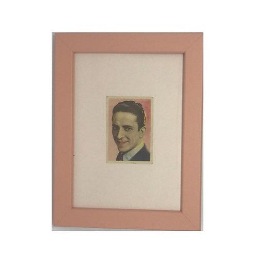 """Cuadro actor y cantante """"Roberto Rey"""" cromo original 1940's"""