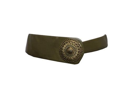 """Cinturón de piel y metal """"Olivia"""""""
