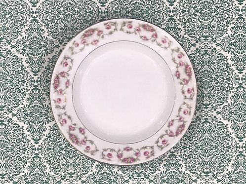 "Plato hondo de porcelana Limoges ""W.G. & CO"" ""Patt"" 1920's"