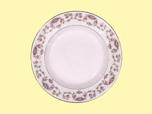 "Plato hondo de porcelana Limoges ""W.G. & CO"" ""Patt"" 1940's"