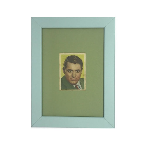 "Cuadro actor ""Cary Grant"" cromo original 1940's"