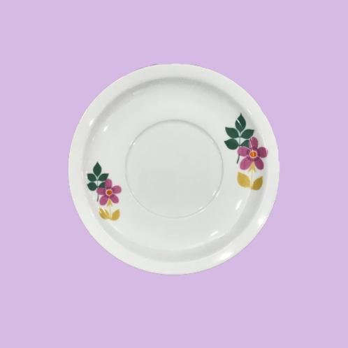 "Plato Mediano 17cm de porcelana ""Felipa de Lancaster"" 1970's"