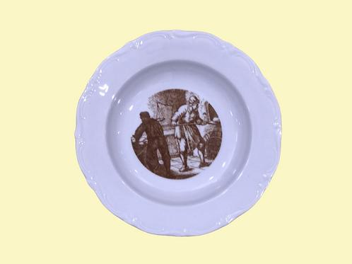 "Plato hondo de porcelana Winterling Anceta ""Sonsoles"" 1970's"