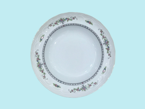 "Plato hondo de porcelana ""Bidasoa"" ""Blanca"" 1960's"
