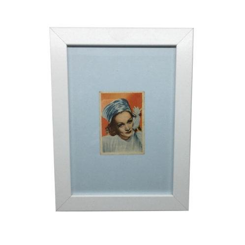 """Cuadro actriz y cantante """"Marlene Dietrich"""" cromo original 1940's"""