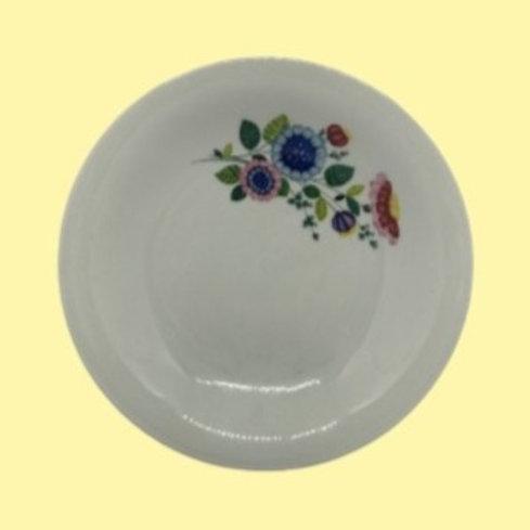 "Plato hondo de porcelana fina de Vierzon ""Teresa"" 1950's"