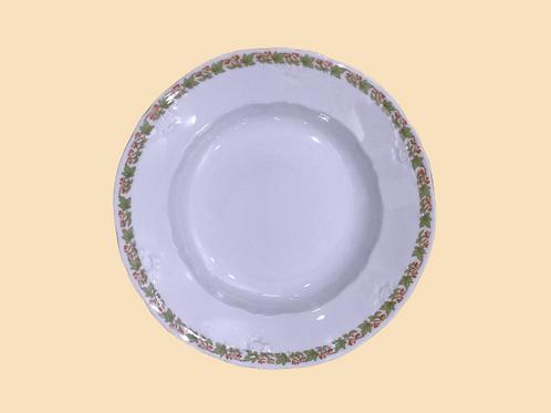 """Plato hondo de porcelana  """"Carolina"""" 1950's"""