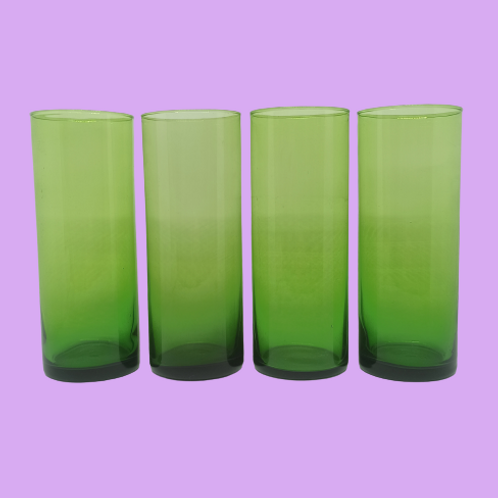 """Vaso de tubo de cristal """"Kika"""" 1970's"""