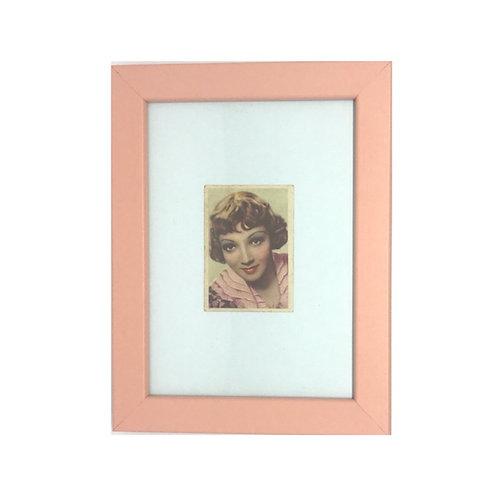 """Cuadro actriz """"Claudette Colbert"""" cromo original 1940's"""