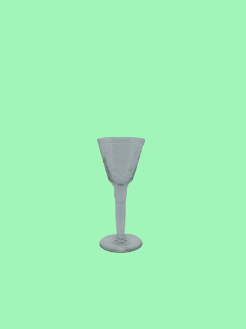 "Copa de licor de cristal tallado ""Natalia"" 1950's"