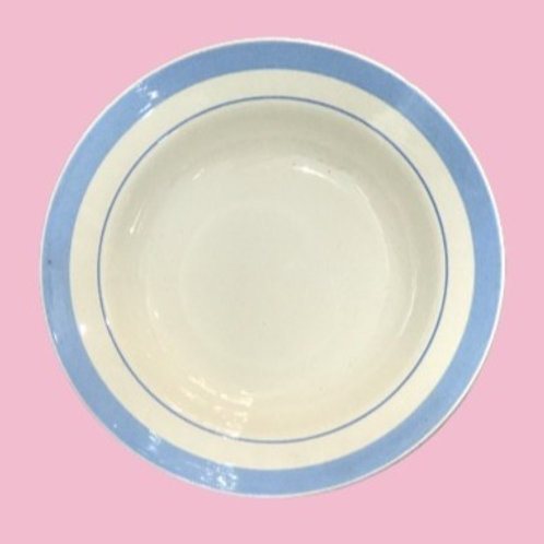 "Plato hondo de porcelana ""Alicia"" 1980's"