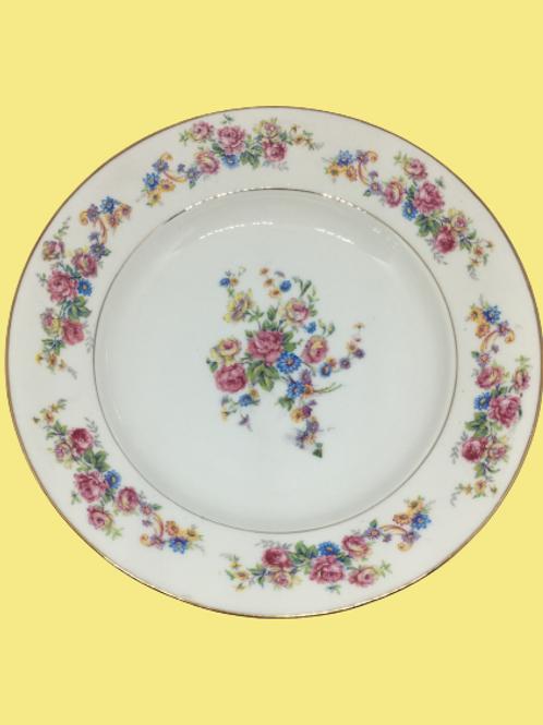 """Plato hondo de porcelana """"Lila"""" 1930's"""