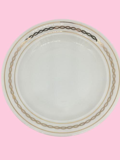 """Plato hondo de porcelana Pillivuyt """"Flor"""" 1960's"""