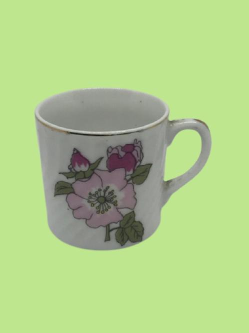 "Taza pequeña porcelana china ""Luna"" 1960's"