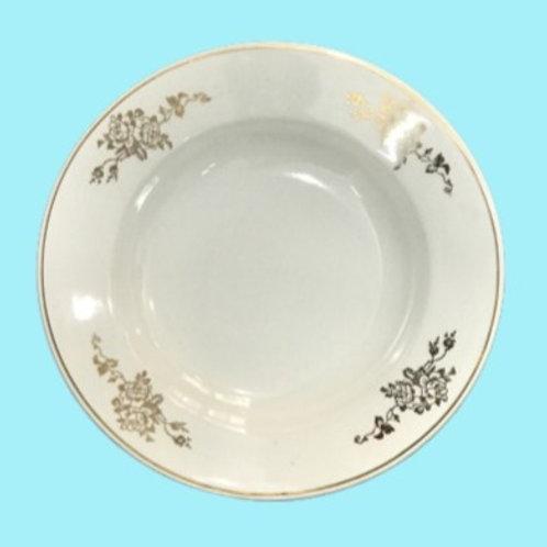 "Plato hondo de porcelana Limoges ""Meider"" 1950's"