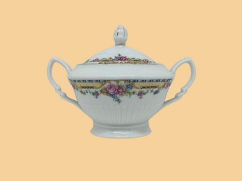"Azucarero de porcelana belga (Haas & Czjzek) ""Paola"" 1930's"