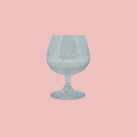 Copa de cristal tallado 1950's