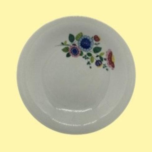 "Plato hondo de porcelana fina de Vierzon ""Teresa"" 1960's"
