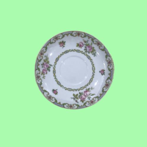 """Plato pequeño de porcelana """"Margarita de Valois"""" 1900's"""