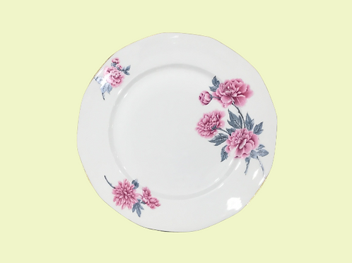 "Plato llano grande de porcelana Limoges (Salmon et cie) ""Jara"" 1950's"