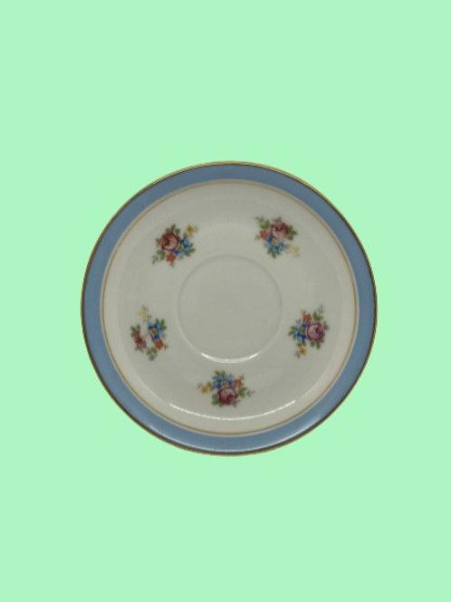 """Plato pequeño 14cm """"Paula"""" Porcelana Limoges 1940's"""
