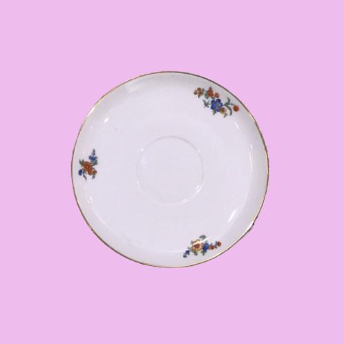 """Plato pequeño 15cm """"Belén"""" porcelana Bohemia 1950's"""