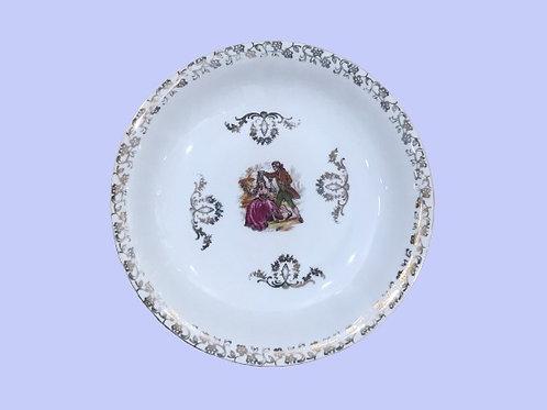 """Plato hondo de porcelana """"Isabella"""" 1950s"""