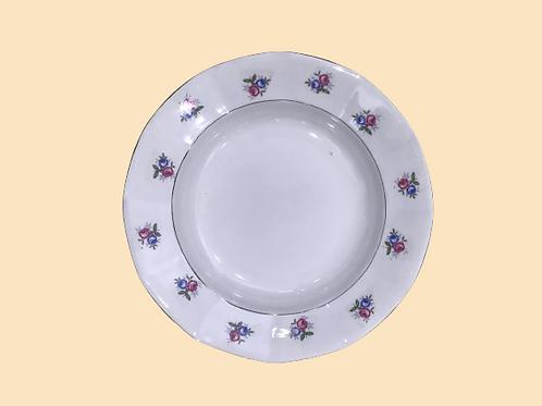 Plato hondo de porcelana Sarreguimes 1930's