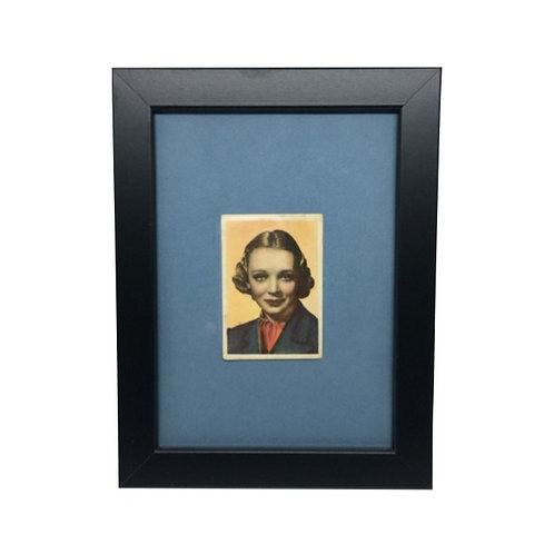 """Cuadro actriz y cantante """"Virginia Bruce"""" cromo original 1940's"""