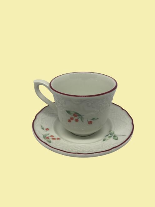 """Taza Mediana + Plato porcelana inglesa """"Diana"""" 1980's"""