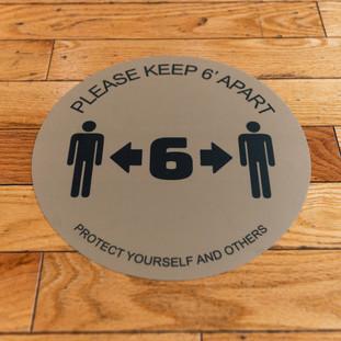 Rae Studios Social Distancing Floor Markings