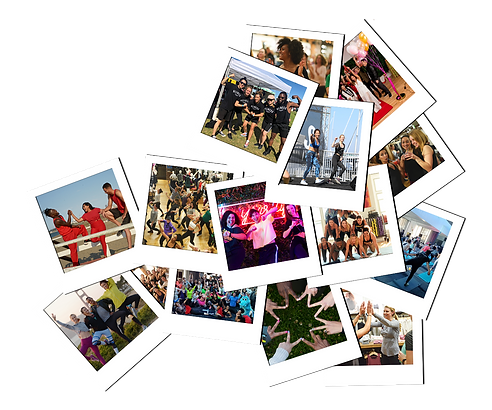 Rae Studios community events photos, polaroids, festival, news, dance and fitness social gathering